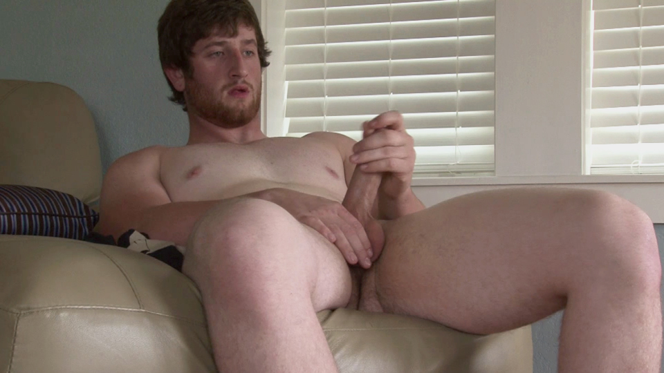 Southern-Strokes-Justin-Redhead-with-Uncut-Cock-Jerkoff-10 Amateur Straight Red Headed Texas Redneck Jerks His Big Uncut Cock