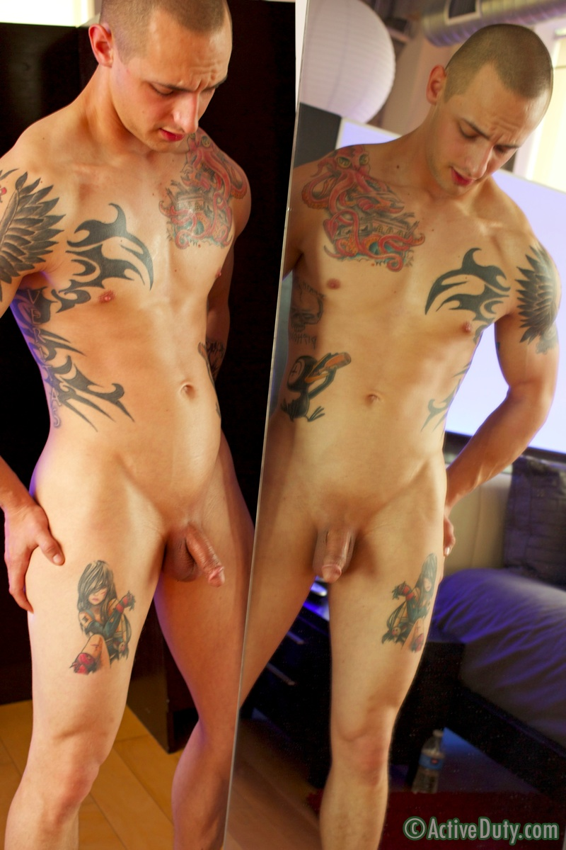 ActiveDuty-Ezra-Tattoo-Military-Army-Muscle-Stud-Jerking-Off-Solo-Amateur-Gay-Porn-19 Amateur Straight Muscle Army Guy First Jerk Off On Video
