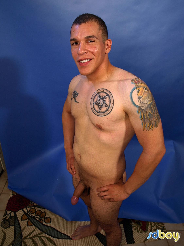 SD-Boy-Ray-Sosa-Big-Uncut-Cock-Latino-Marine-Masturbating-Amateur-Gay-Porn-05 Amateur Gay Latino Marine Shows His Tatts and Jerks His Uncut Cock