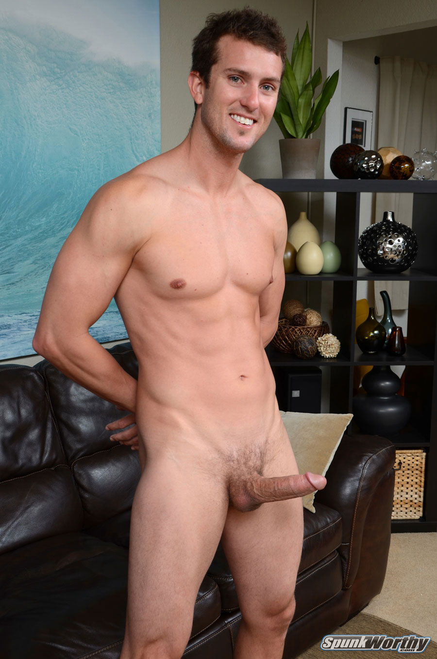Amateur Straight Surfer Gets His First Handjob From A Guy Jerk