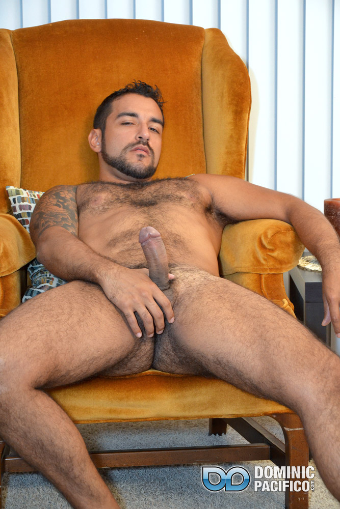 DOMINIC-PACIFICO-Nicko-Morales-Big-Uncut-Cock-Masturbation-Amateur-Gay-Porn-15 Amateur Straight Muscular Hairy Hunk With Huge Uncut Cock Jerks Out A Huge Cum Load