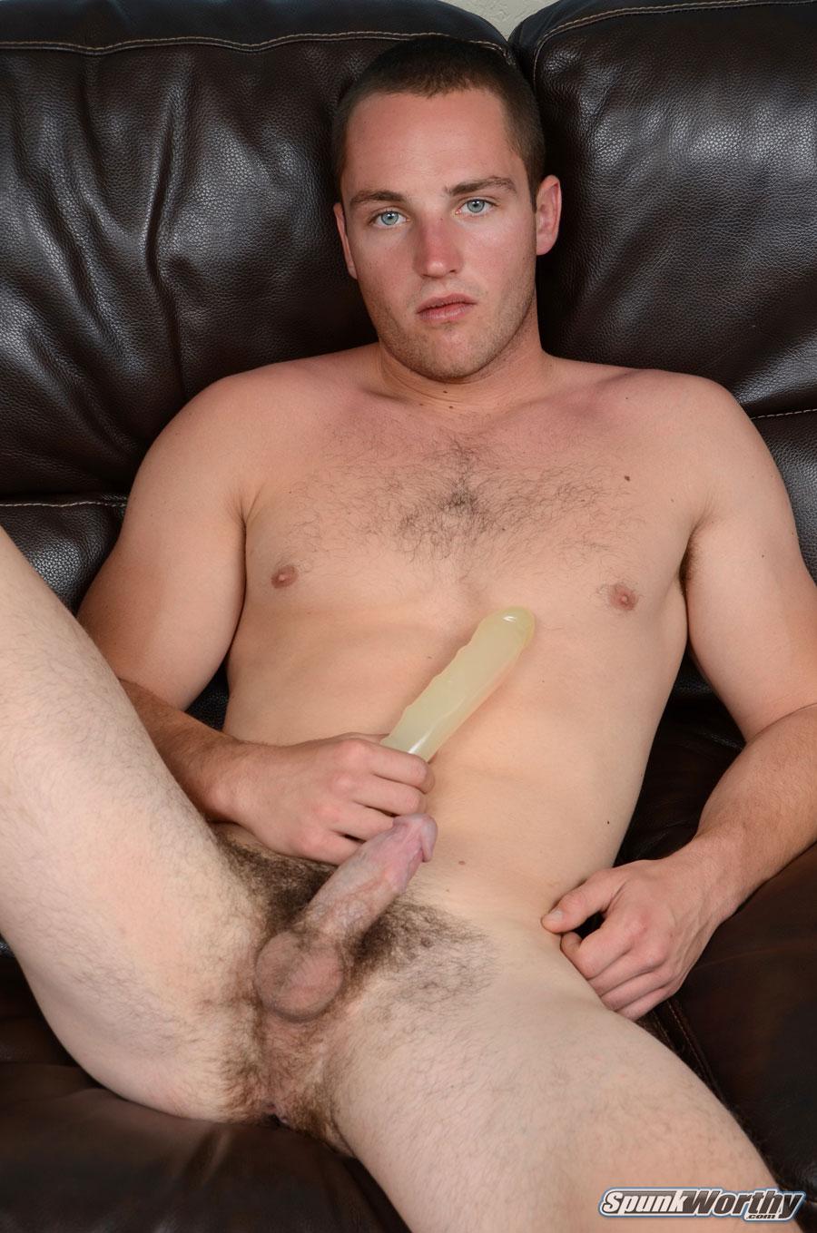 SpunkWorthy Dean Straight Marine Uses A Dildo On Hairy Ass Amateur Gay Porn 03 Ripped Marine Fucks His Striaght Hairy Ass With A Dildo