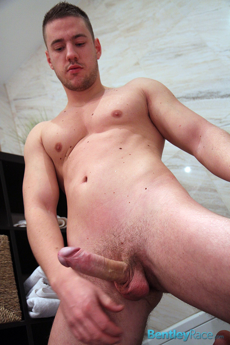 Bentley Race Jeffry Branson Big Thick Uncut Cock Masturbating Shower Amateur Gay Porn 15 Jeffry Branson: Athletic Jock Jerks His Big Thick Uncut Cock In The Shower