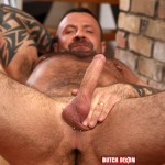 Butch Dixon Marc Angelo Muscle Bear Masturbating Big Uncut Cock Amateur Gay Porn 04 150x150 Hairy Canadian Muscle Daddy Bear Strokes His Big Uncut Cock