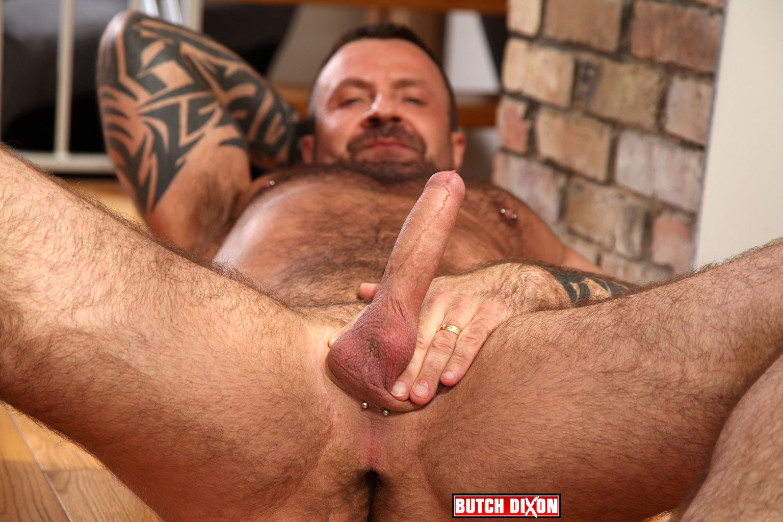 Butch Dixon Marc Angelo Muscle Bear Masturbating Big Uncut Cock Amateur Gay Porn 04 Hairy Canadian Muscle Daddy Bear Strokes His Big Uncut Cock