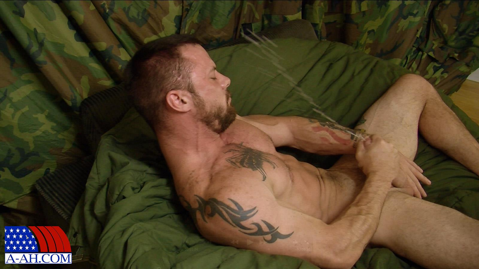 All-American-Heroes-Sergeant-Miles-Army-Guy-Jerking-Off-Big-Cock-And-Fingering-Ass-Amateur-Gay-Porn-13 Happy Veterans Day: Straight US Army Sergeant Jerks His Thick Cock
