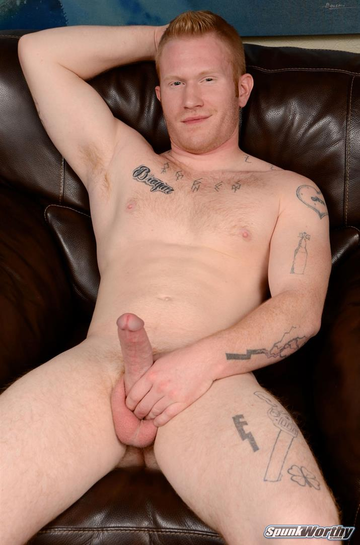 SpunkWorthy Perry Straight Redhead With A Big Cock Jerking Off Amateur Gay Porn 06 Straight Hunky Redhead Jerking Off His Big Ginger Cock