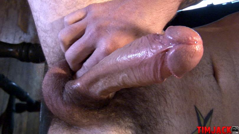 Huge cock jerking cum