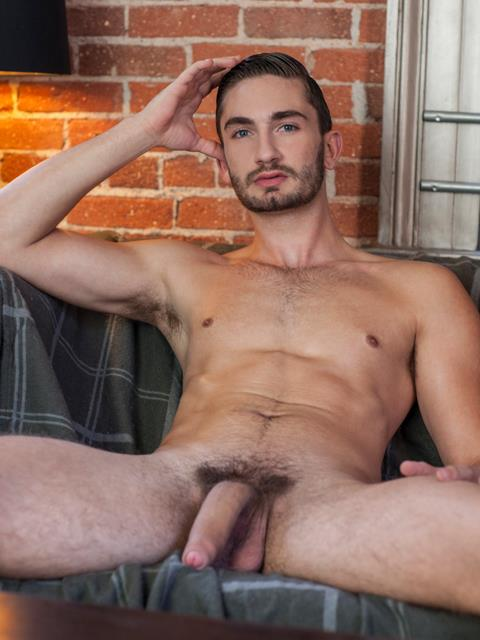 Randy-Blue-Preston-Cole-GQ-looking-Guy-With-A-Huge-Uncut-Cock-Jerking-Off-Amateur-Gay-Porn-10 Hottie Preston Cole Jerking His Huge Uncut Cock