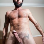 Butch Dixon Tom Nero Hairy Daddy Jerking Off A Big Fat Mushroom Head Cock Amateur Gay Porn 06 150x150 Hairy Stud Tom Nero Jerking His Thick Mushroom Head Cock