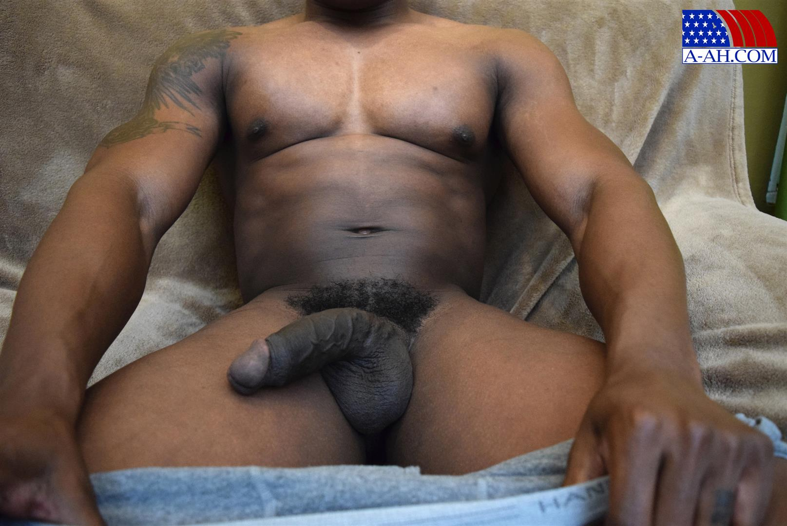 Black Cock Jerk Porn - Click here to download this full length Navy hunk jerking off his big black  cock and hundreds more amateur gay military porn videos at All American  Heroes.