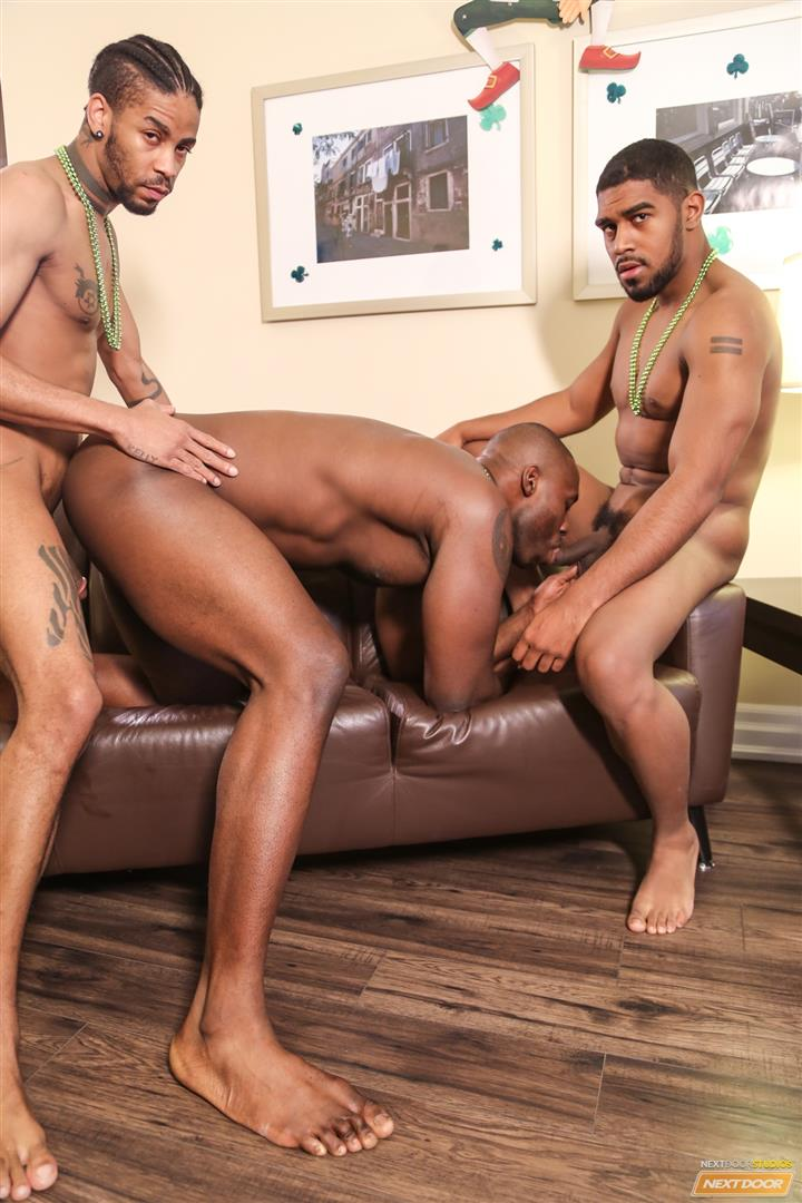 Next Door Ebony Nubius and Jin Powers and XL Naked Thugs Threeway Fucking Amateur Gay Porn 12 Big Black Cock Threeway Suck and Fuck Thug Fest