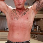 """Butch Dixon Big T British Muscle Daddy With A Big Uncut Cock Amateur Gay Porn 01 150x150 British Muscle Daddy Jerking Off His Big 9"""" Uncut Cock"""