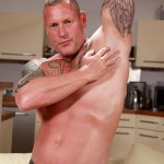 """Butch Dixon Big T British Muscle Daddy With A Big Uncut Cock Amateur Gay Porn 02 150x150 British Muscle Daddy Jerking Off His Big 9"""" Uncut Cock"""