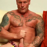 """Butch Dixon Big T British Muscle Daddy With A Big Uncut Cock Amateur Gay Porn 08 150x150 British Muscle Daddy Jerking Off His Big 9"""" Uncut Cock"""