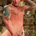 """Butch Dixon Big T British Muscle Daddy With A Big Uncut Cock Amateur Gay Porn 10 150x150 British Muscle Daddy Jerking Off His Big 9"""" Uncut Cock"""