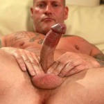 """Butch Dixon Big T British Muscle Daddy With A Big Uncut Cock Amateur Gay Porn 11 150x150 British Muscle Daddy Jerking Off His Big 9"""" Uncut Cock"""