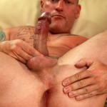 """Butch Dixon Big T British Muscle Daddy With A Big Uncut Cock Amateur Gay Porn 13 150x150 British Muscle Daddy Jerking Off His Big 9"""" Uncut Cock"""