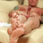 """Butch Dixon Big T British Muscle Daddy With A Big Uncut Cock Amateur Gay Porn 16 150x150 British Muscle Daddy Jerking Off His Big 9"""" Uncut Cock"""