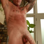 """Butch Dixon Big T British Muscle Daddy With A Big Uncut Cock Amateur Gay Porn 22 150x150 British Muscle Daddy Jerking Off His Big 9"""" Uncut Cock"""
