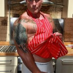 """Butch Dixon Big T British Muscle Daddy With A Big Uncut Cock Amateur Gay Porn 25 150x150 British Muscle Daddy Jerking Off His Big 9"""" Uncut Cock"""