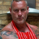 """Butch Dixon Big T British Muscle Daddy With A Big Uncut Cock Amateur Gay Porn 26 150x150 British Muscle Daddy Jerking Off His Big 9"""" Uncut Cock"""