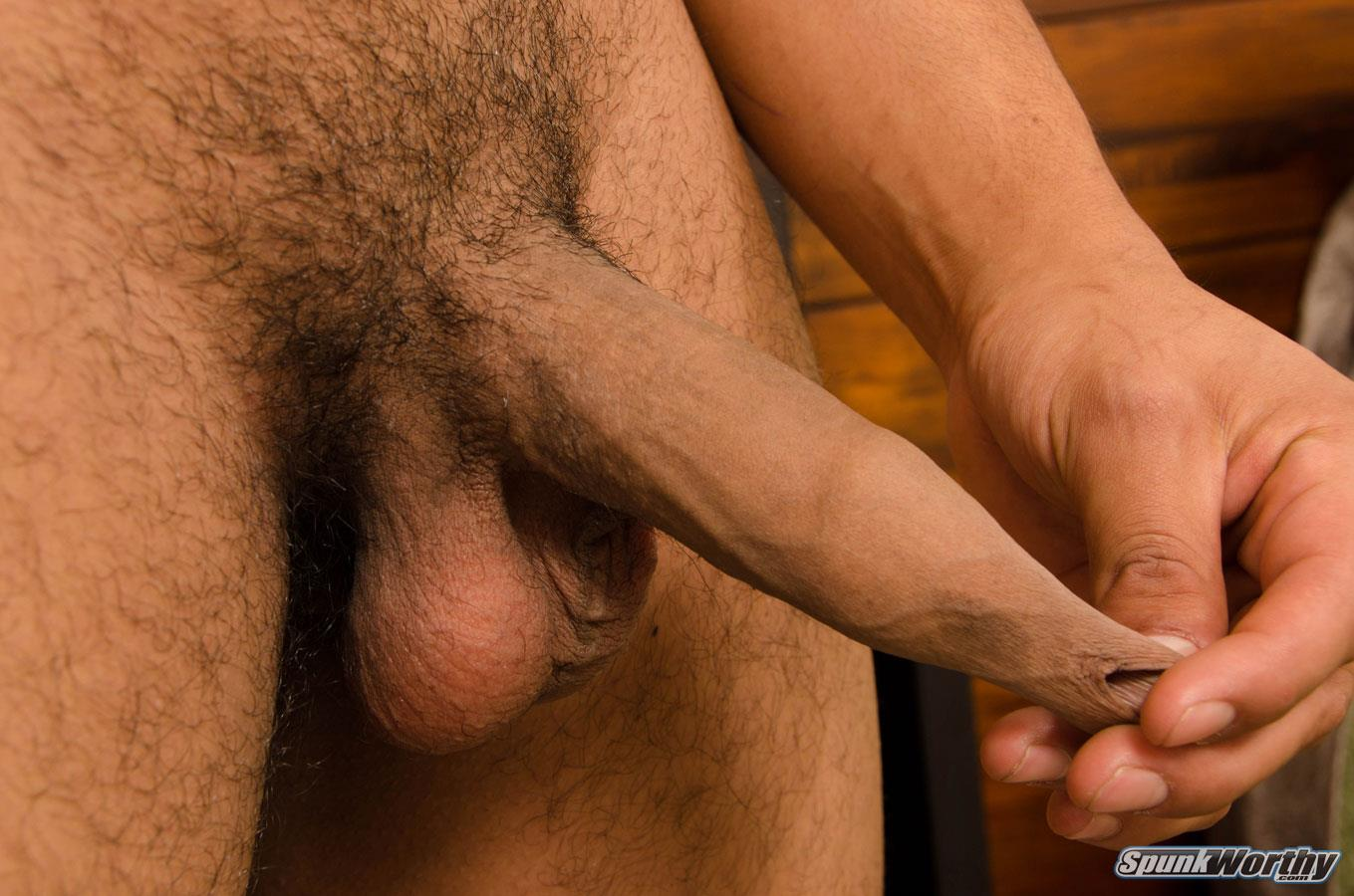 SpunkWorthy-Chewy-Football-Jock-Stroking-Thick-Uncut-Cock-Amateur-Gay-Porn-04 Straight High School Football Jock Strokes His Big Uncut Cock