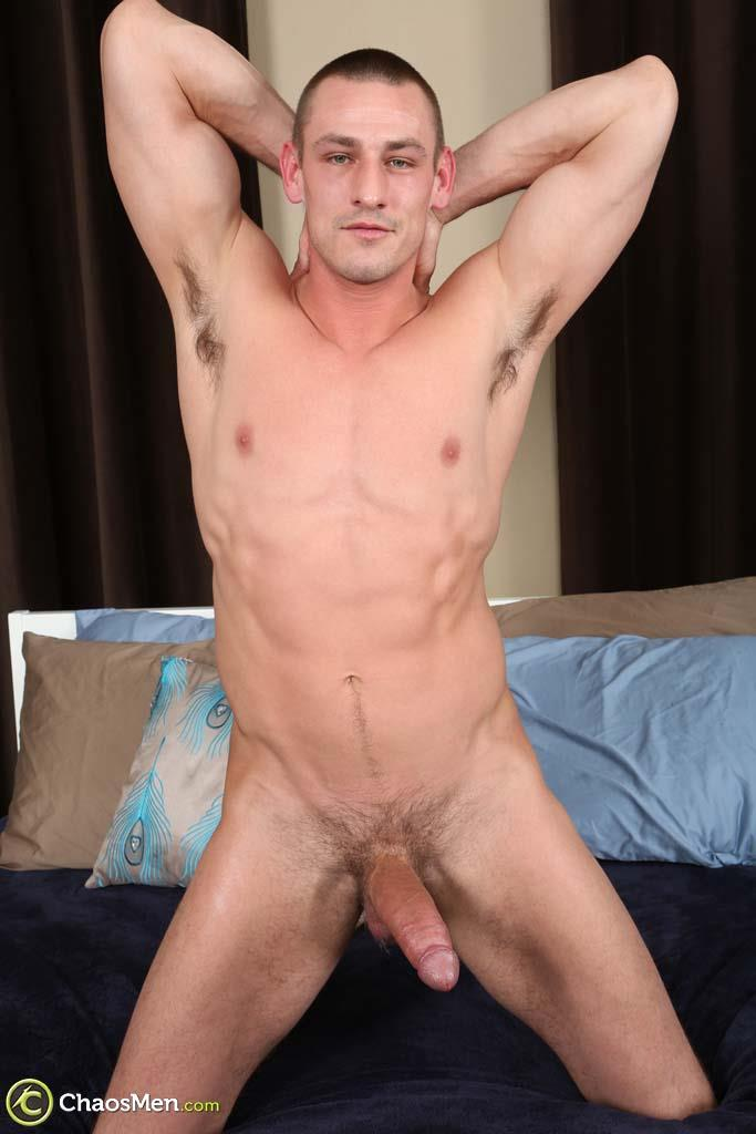 Chaosmen-Kirkland-Straight-Muscle-Hunk-Jerks-Big-Cock-Amateur-Gay-Porn-46 Straight Muscle Hunk Jerks His Big Dick When He Auditions For Gay Porn
