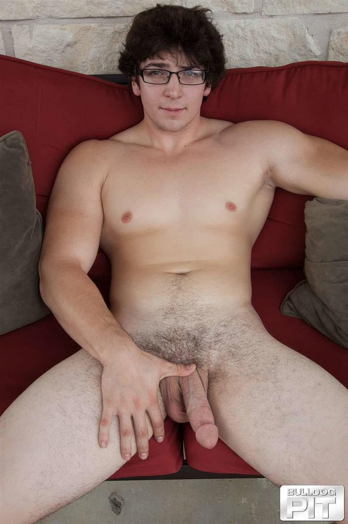 Bulldog-Pit-Clark-Naked-College-Muscle-Guy-Jerk-Off-17 Naked Jewish Muscular College Boy Caught Jerking Off Outside!