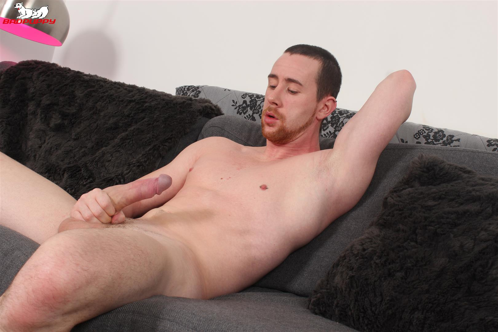 Badpuppy-Anthony-Naylor-Big-Uncut-Cock-Masturbation-14 Sexy British Amateur Plays With His Big Uncut Horse Cock