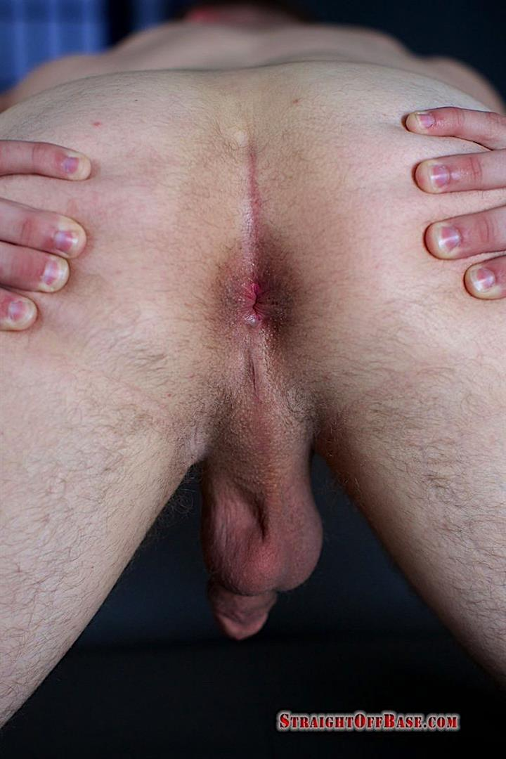 Straight-Off-Base-Naked-Marine-Jerks-His-Big-Cock-12 United States Marine Sergeant Strokes His 8.5 Inch Thick Dick