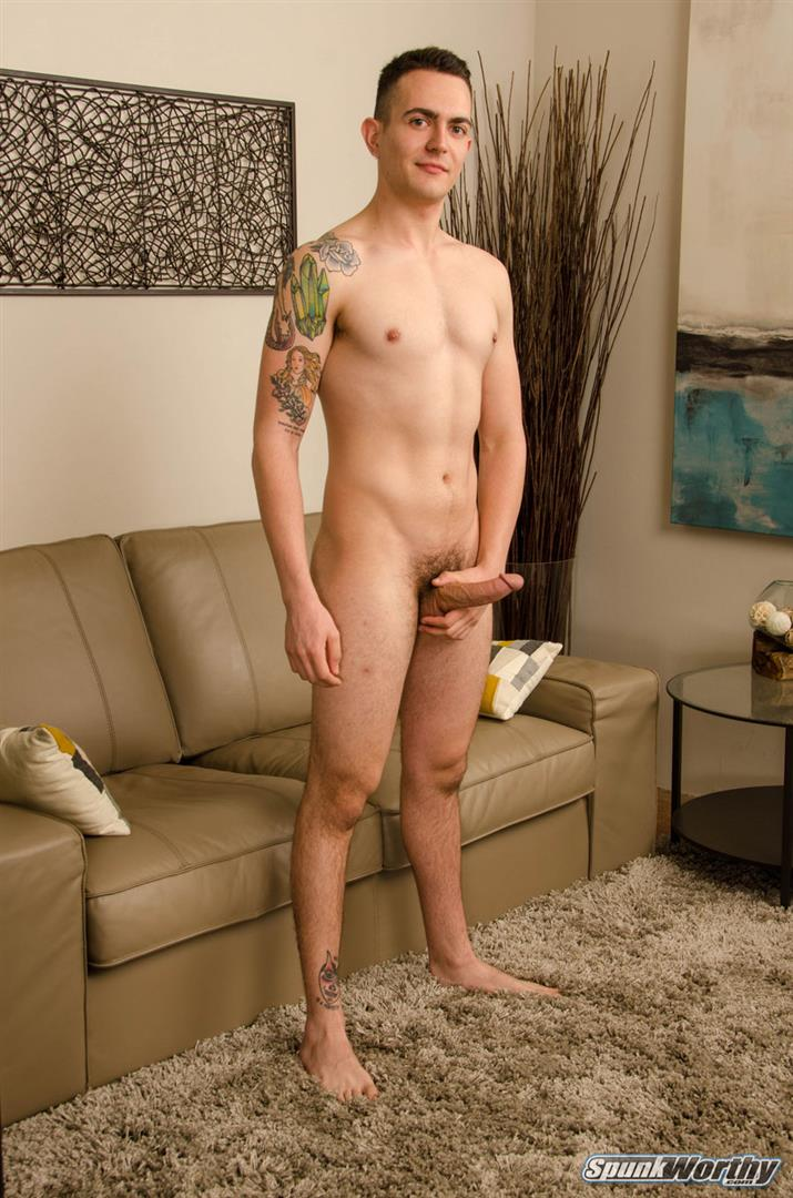 SpunkWorthy-Ryan-Kroger-Gay-Porn-Audition-Video-Jerk-off-07 Auditioning For Gay Porn And Jerking Out A Big Load Of Cum