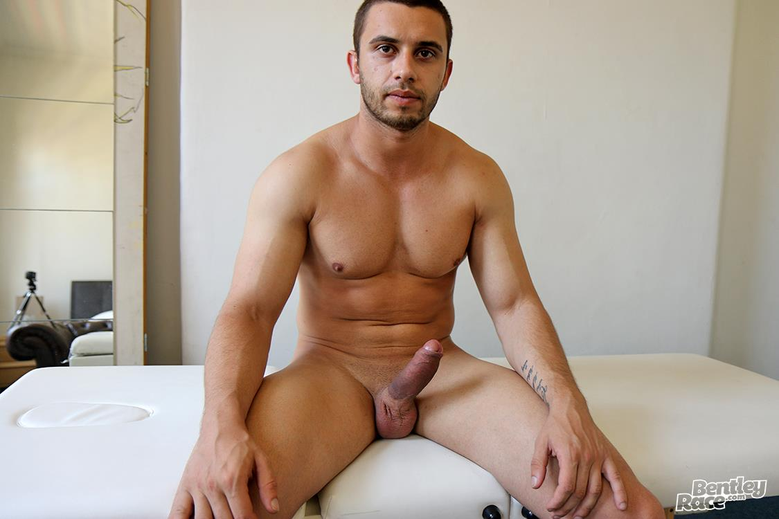 Bentley-Race-James-Nowak-Muscle-Hunk-With-A-Big-Uncut-Cock-Jerking-Off-Video-16 Muscle Hunk James Nowak Jerks His Shaved Thick Uncut Cock