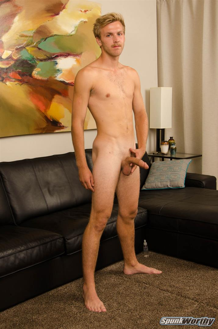 SpunkWorthy-Matthew-Blonde-Straight-Southern-Cal-Guy-Jekring-Off-07 23-Year Old Southern California Straight Boy Jerks Off His Thick Dick